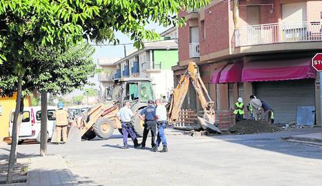 Imatge de la zona de l'incident poc després de la fuga.
