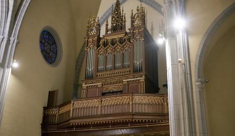 L'orgue de Sant Agustí de Cervera va ser adquirit el 1895.