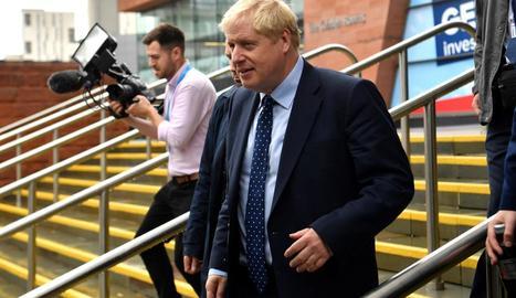 El primer ministre, Boris Johnson, ahir a Londres.