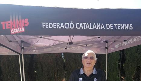 Antonio Carreño, campió de Catalunya de tenis veterà
