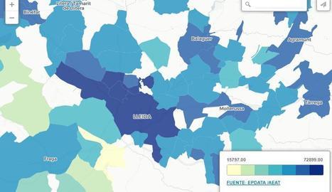 Els municipis de Lleida que tenen els veïns més rics