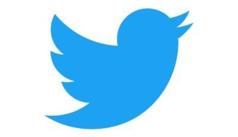 El logotip de Twitter.