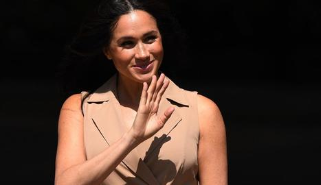 La duquessa de Sussex, Meghan Markle, ahir.