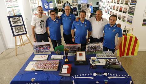 L'exposició sobre el Lleida va ser inaugurada ahir a la sala de l'associació Res Non Verba.