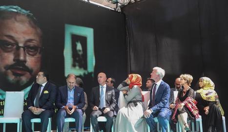 Un moment de l'homenatge celebrat per Jamal Khashoggi.