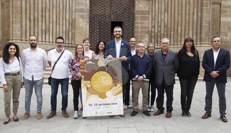 L'acte de presentació de la 31a edició de la Fira del Torró i la Xocolata a la Pedra d'Agramunt.