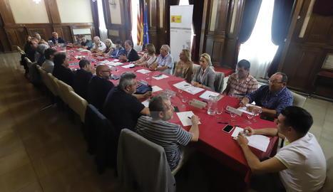 La reunió s'ha celebrat a la subdelegació del Govern espanyol a Lleida.