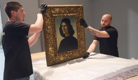 El 'Retrat de Michele Marullo Tarcaniotes' és l'última pintura de l'artista italià en mans privades.
