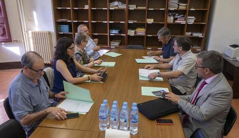 Els membres del Patronat, a la reunió de dimecres.