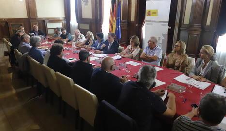La reunió es va fer a la subdelegació del Govern central a Lleida.