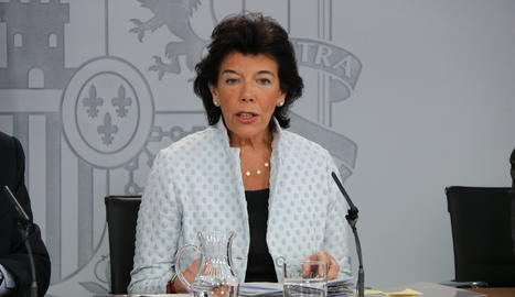 La portaveu del govern espanyol en funcions, Isabel Celaá.