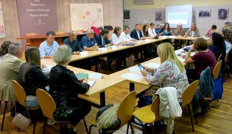 La reunió sobre la campanya d'atenció als temporers a Lleida.