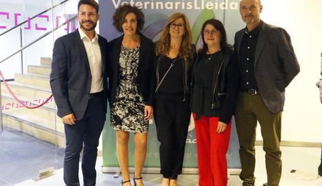 Alguns dels participants en el sopar de Sant Francesc del Col·legi de Veterinaris de Lleida.