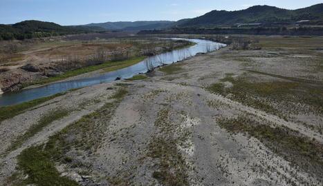 El pantà de Rialb, sota mínims per la falta de pluges d'aquest any
