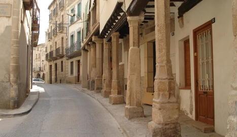 Centre històric d'Arbeca, a la comarca de les Garrigues.