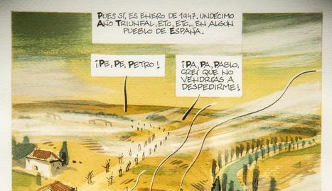 història. El còmic beu del dia a dia de la gent de postguerra en una ciutat com Barcelona.