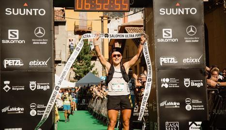 El guanyador Dmitry Mityaev al passar per la meta.