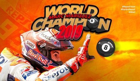 Marc Márquez aconsegueix el seu vuitè títol de campió del món