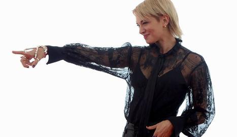 L'actriu i directora italiana Asia Argento va ser ahir la gran protagonista del festival.