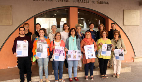 Representants de Dones Arrel, Fòrum Femení d'Opinió, L'Èxit, Comissió de Gènere La Soll, Comissió de Gènere Agrat, Dones Verge del Pedregal i APADOC (Associació de Persones Afectades de Dolor Crònic).