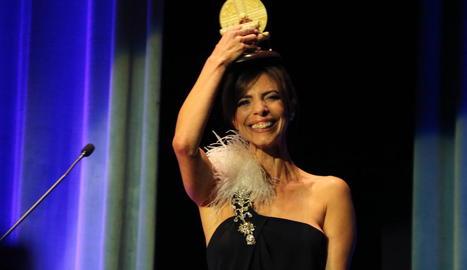 Maribel Verdú, ahir a la nit a la gala del festival de Sitges al rebre el premi Màquina del Temps.