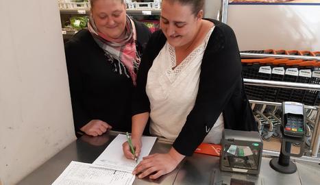 Signants per exigir millores a l'hospital de la Seu.