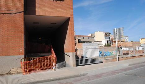 Les obres a l'edifici Sant Jordi.