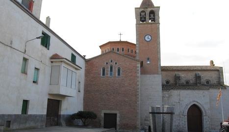 L'església de Vilanova de Bellpuig.