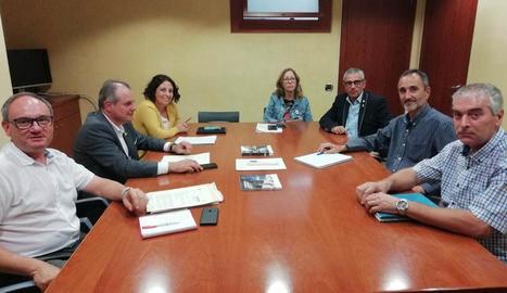 La reunió entre el consell i l'ACA.