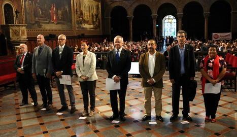 Els vuit rectors de les universitats catalanes.