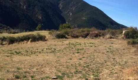 Imatge d'una zona del Pirineu afectada per la sequera.