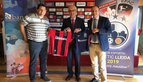 L'Atlètic Lleida presenta el patrocinador del primer equip de l'EFAC