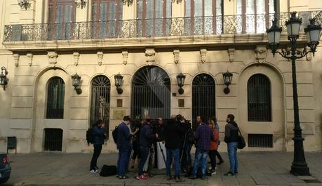 La façana de la Paeria, sense la pancarta aquest dimecres al matí.
