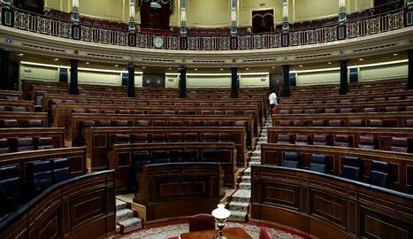 Una vista del Congrés dels Diputats.
