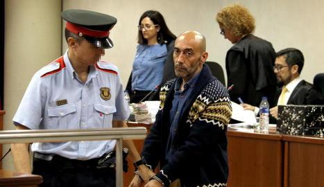 Jordi Lanuza, ahir després de la tercera sessió del judici.