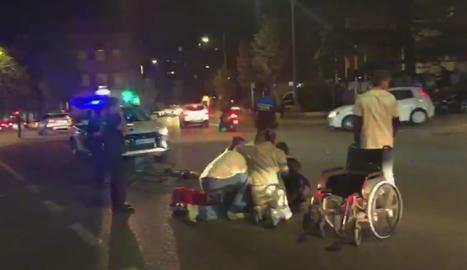 Herido leve un ciclista en un accidente con un turismo en Lleida