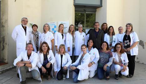 Part de l'equip de l'àrea de Salut Mental de l'hospital Santa Maria de Lleida.