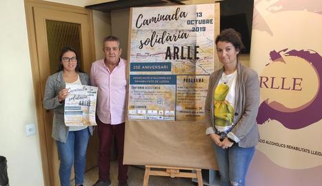 La presentació de la caminada, ahir a Lleida.