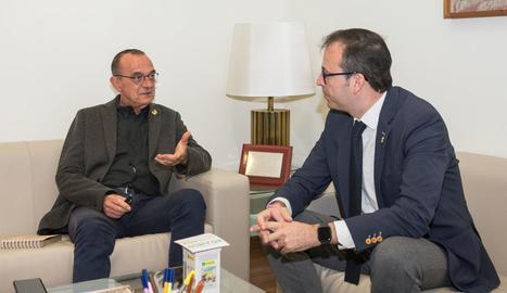 Miquel Pueyo i Marc Solsona es van reunir ahir a la Paeria.