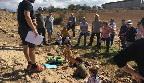 Vista al jaciment paleontològic d'Isona i Conca Dellà.
