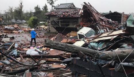 El tifó Hagibis colpeja el Japó i causa la primera víctima mortal