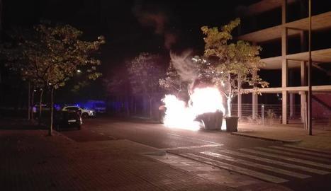 Un dels últims incendis, dissabte a la nit a la Bordeta.