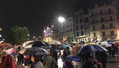 Manifestación unitaria en Lleida contra la sentencia del procés