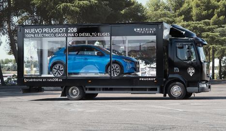 Un tràiler vidrat exhibirà el nou Peugeot demà.