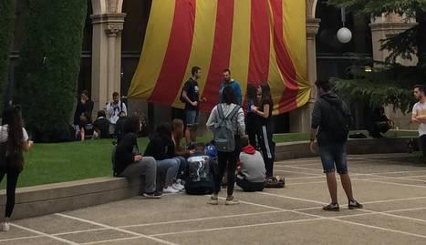 Protestes dels universitaris a Lleida