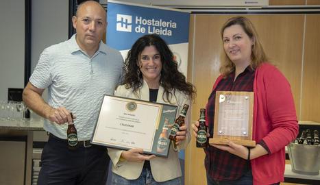 Entrega de premis ahir al matí a la Federació d'Hostaleria de Lleida.