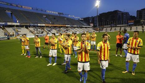El Lleida va lluir la samarreta de la senyera el 2017, després d'un partit amb el Saguntí, al prohibir-li portar la Federació Espanyola.