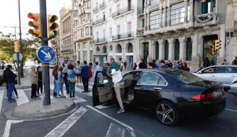 Moments de tensió entre manifestants i conductors a Lleida