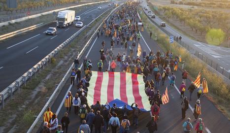 Marcha por la libertad desde Tàrrega