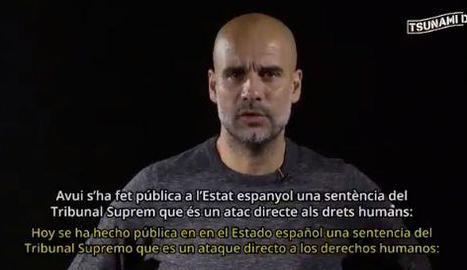 Pep Guardiola, en ple discurs.
